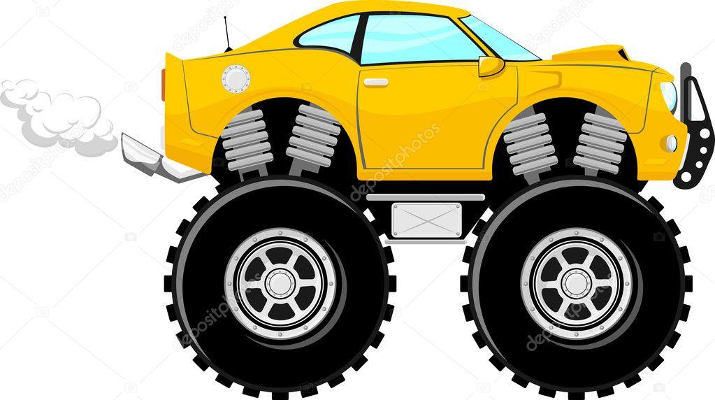 desenho de carro 4x4 sport monstertruck vetor de stock hayaship