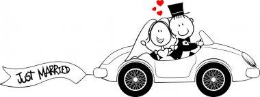 Wedding invite car funny