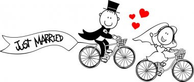Wedding card bikes funny