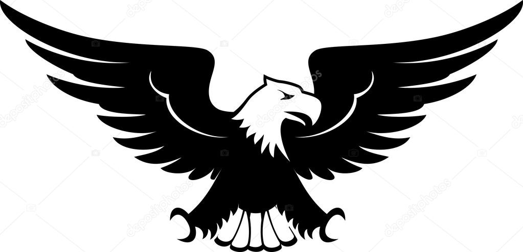 Eagle Head Black And White Clipart 1