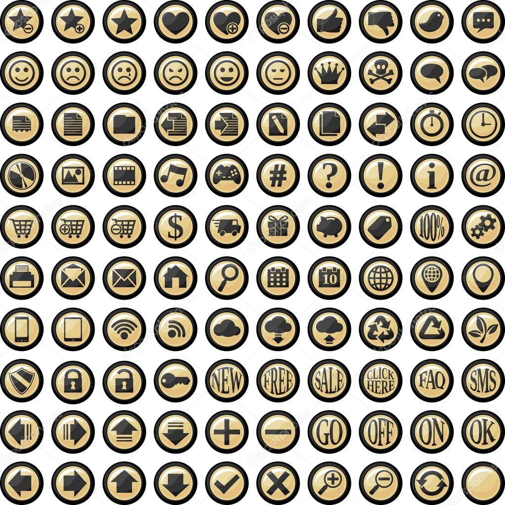 Web buttons vector collection