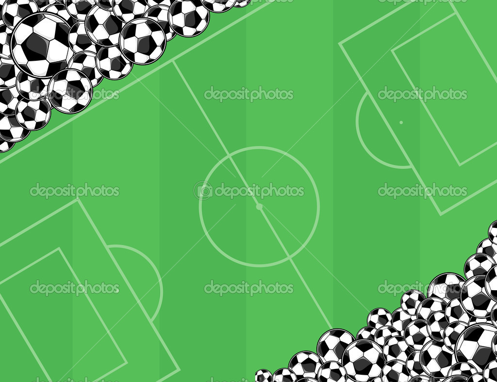 Fondos De Pantalla Fútbol Pelota Silueta Deporte: Fondo De Playingfield De Pelotas De