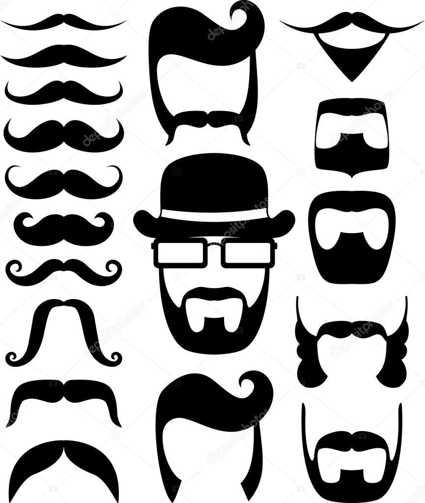 Mustache Prop Stock Vector