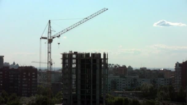 Crane on construction