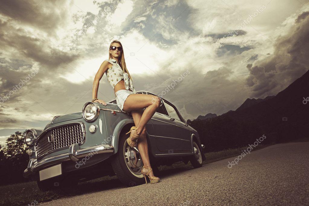 Fashion model. Vintage image. – Stock Editorial Photo © stokkete ...