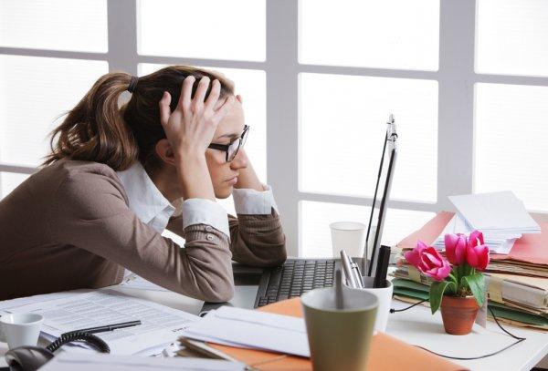 Frustated empresária — Fotografia de Stock
