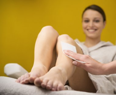 Waxing treatment at spa