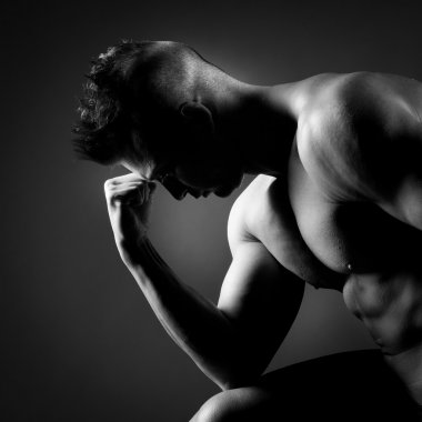 Attractive body builder