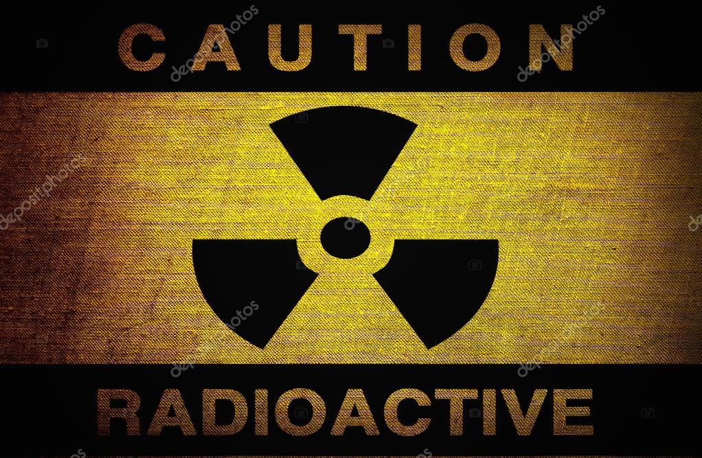 Radioactive Symbol On Old Grunge Background Stock Photo