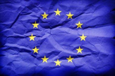 Europe Union flag stock vector