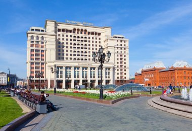 Four Seasons Hotel Moscow and the Historical Museum building in