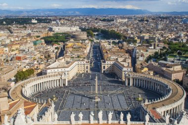 General view of Piazza San Pietro in Vatican City