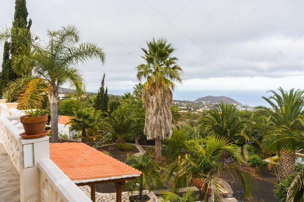 jard n con palmeras en la palma islas canarias fotos de stock kruwt 18284509. Black Bedroom Furniture Sets. Home Design Ideas