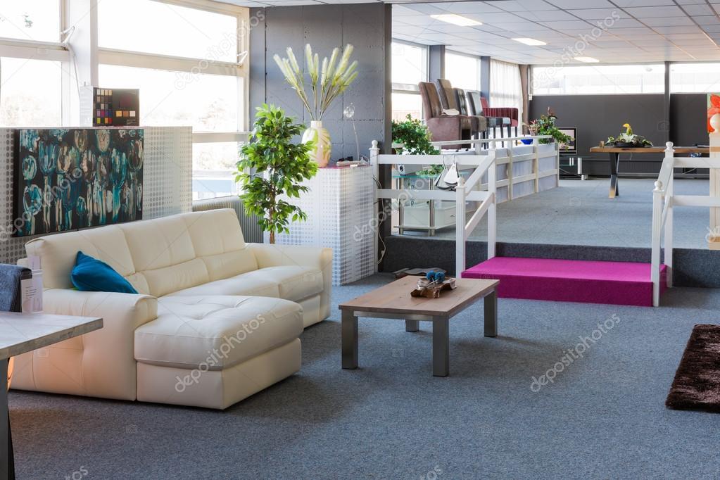 Showroom Of Modern Luxury Furniture Store U2014 Stock Photo