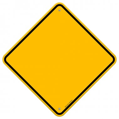 Isolated Blank Yellow Sign