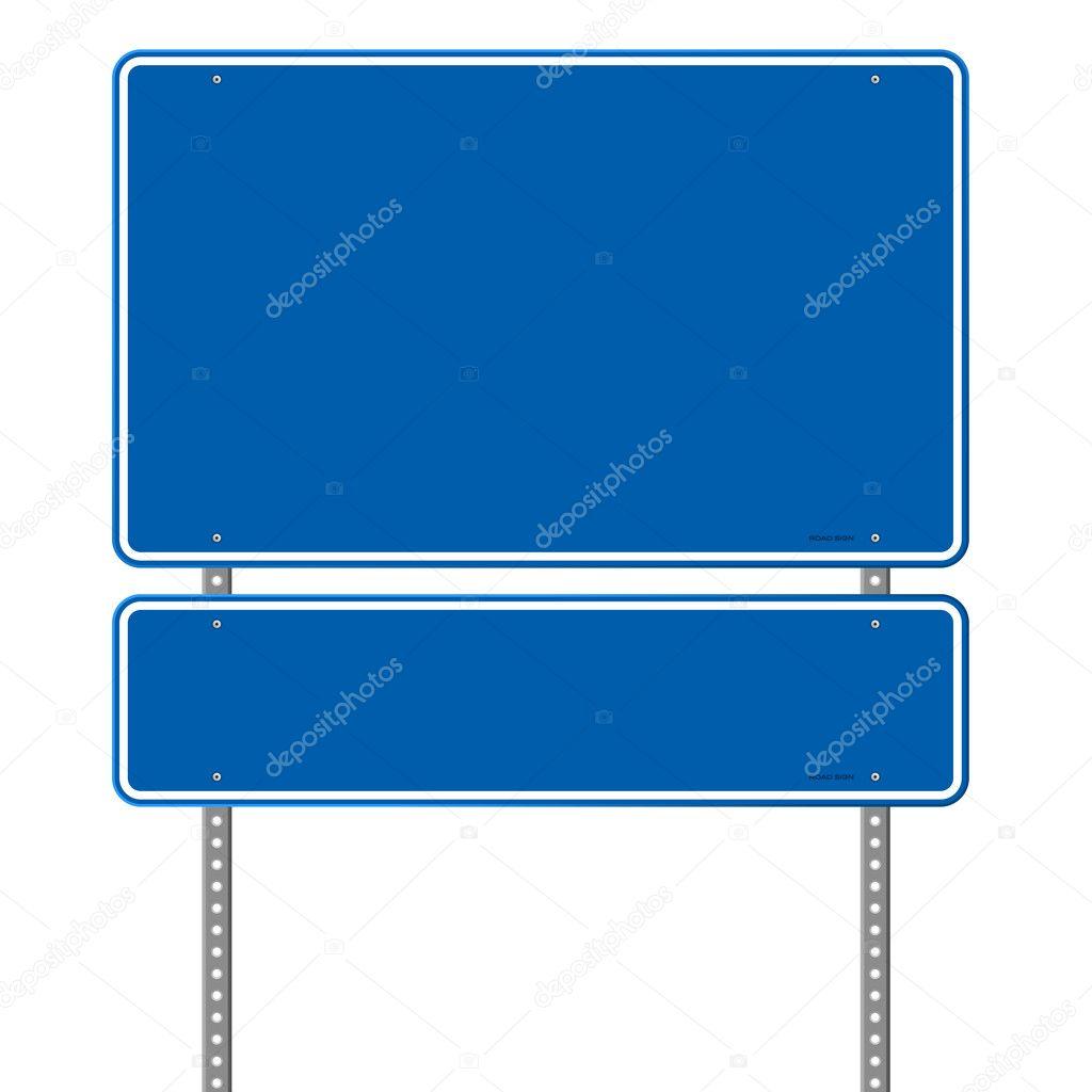 Panneau de signalisation bleu blanc image vectorielle zager 12704022 - Panneau agglomere blanc ...