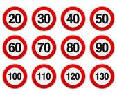 Fotografie Speed Limit Sign Set