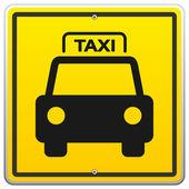 Fotografia segno di taxi a new york
