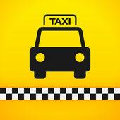 Fotografie taxi cab symbol na žluté