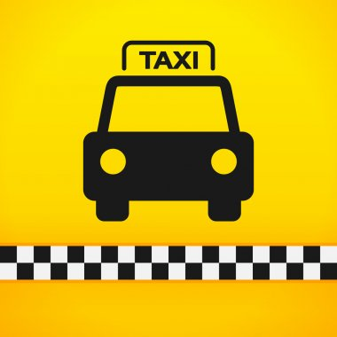 Taxi Cab Symbol on Yellow