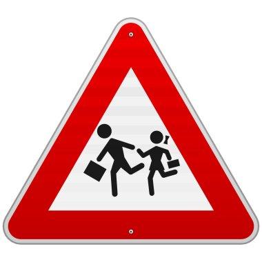 Pedestrian Danger Sign