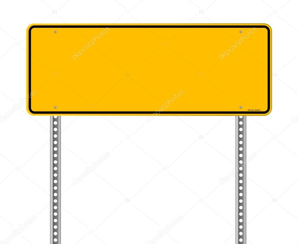 Blank Warning Sign
