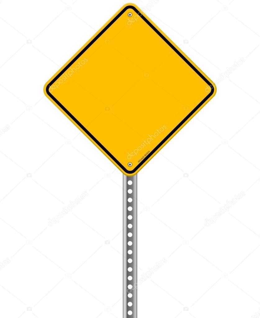 leere gelbes Schild — Stockvektor © zager #27793691