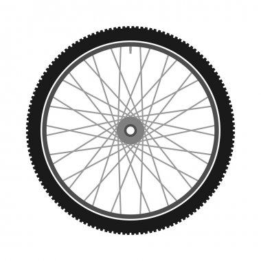 Isolated Bicycle Wheel