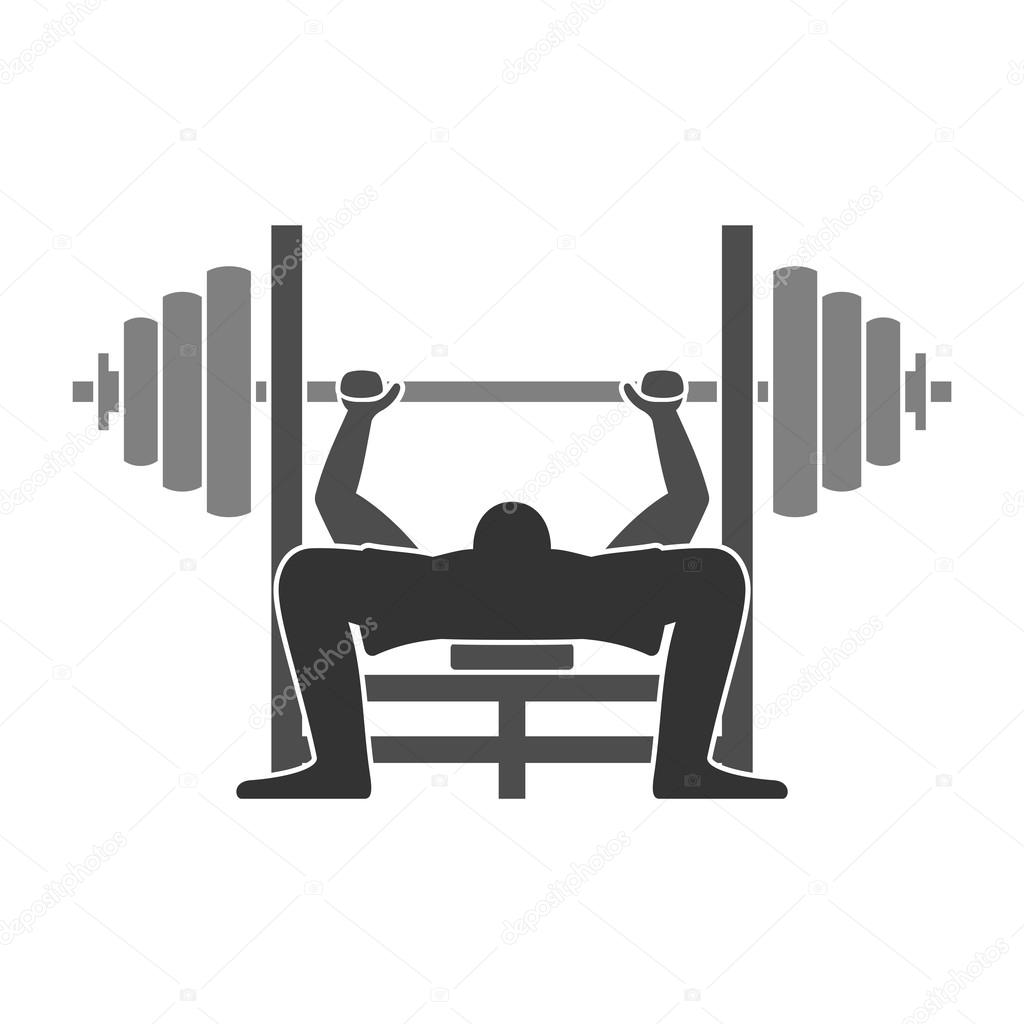 Bench Press Person: Stock Vector © Zager #38672383
