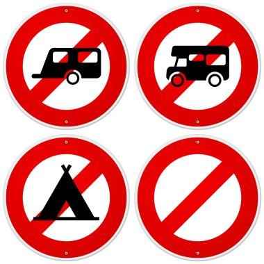 Red Camper Symbol