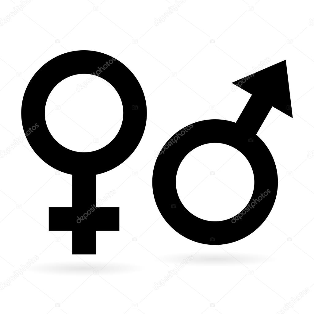 Sex symbols stock vector zager 51332473 female and male sex signs as black silhouette vector by zager biocorpaavc