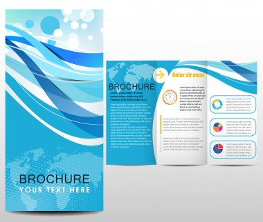 Blue design template