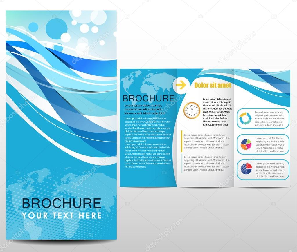 Blue design template