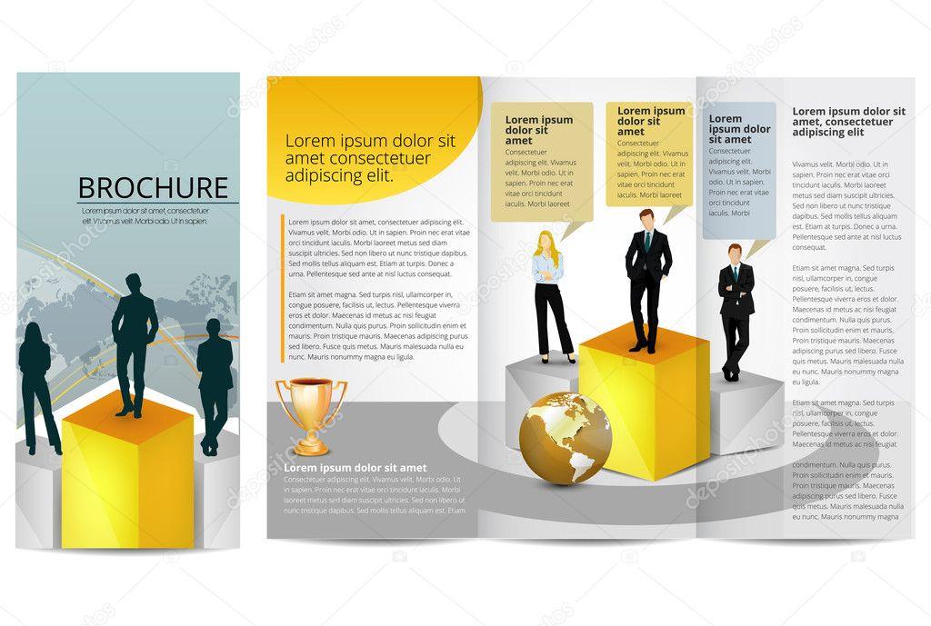 Leadership Training Progress Brochure Stock Vector Timea 15485259