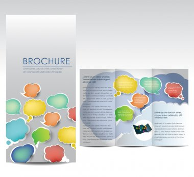 Brochure with bubbles