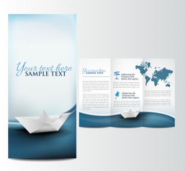 Brochure with paper boat