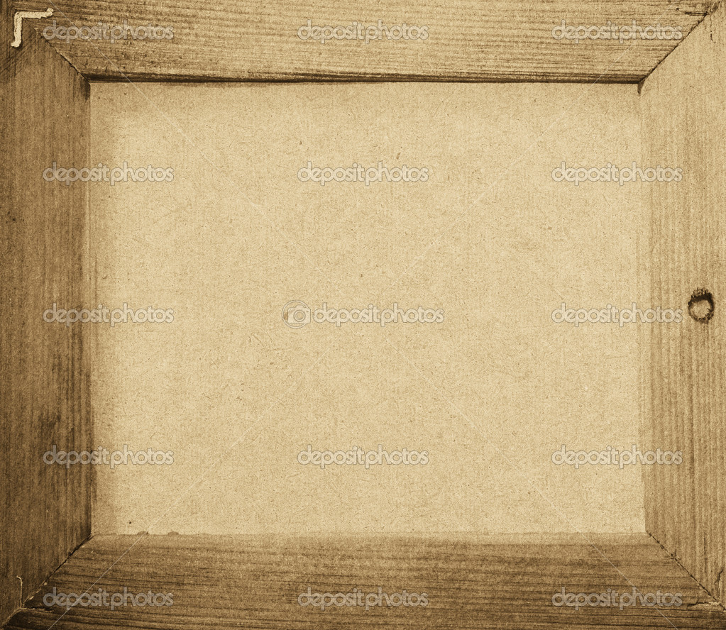 Grunge wood frame background vintage paper texture Stock Photo