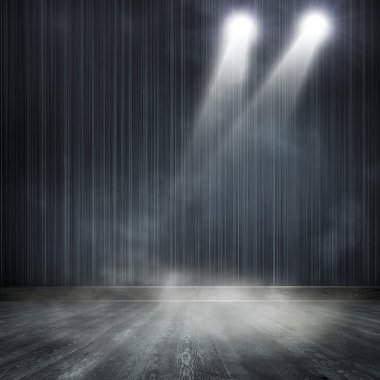 Gray spotlight background