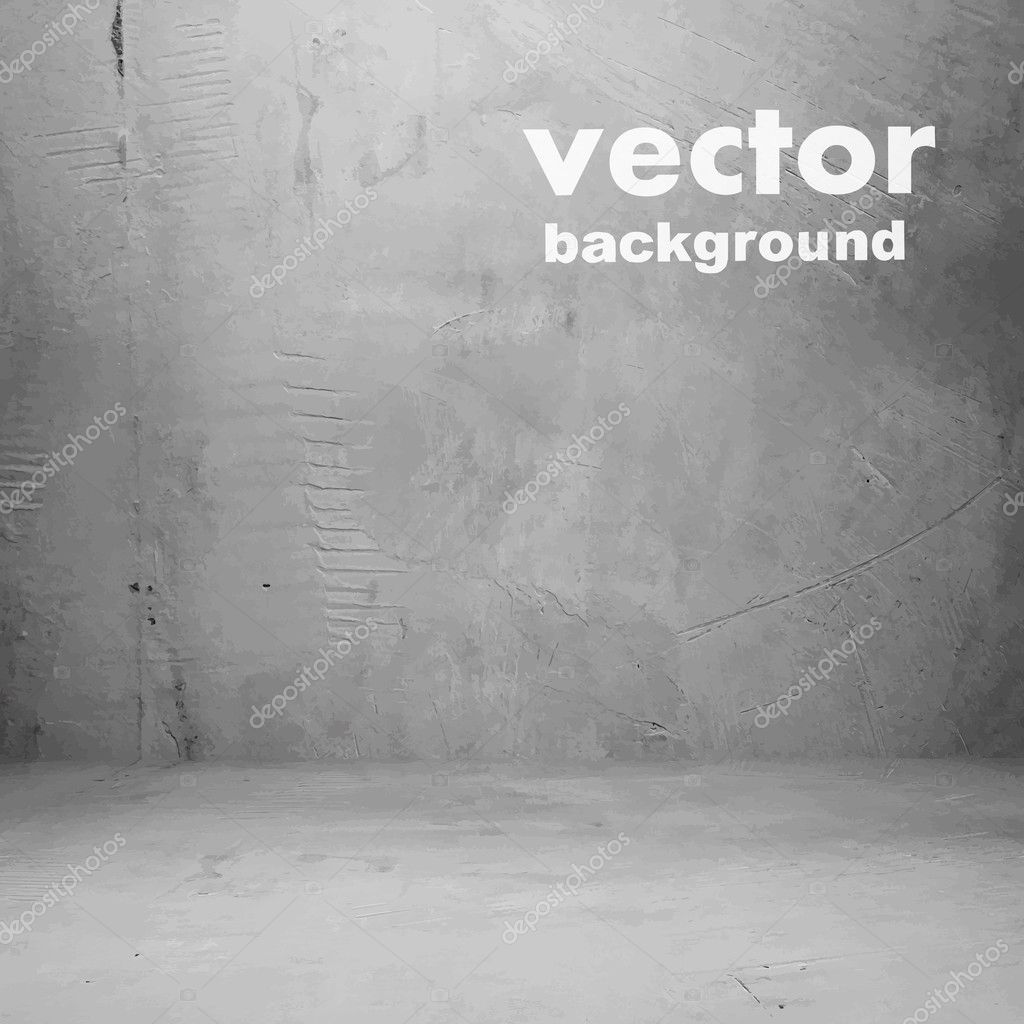 Gray grunge wall vector background