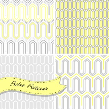 A set of seamless retro patterns.