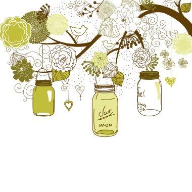 Floral summer background.