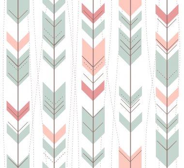 Seamless geometric pattern in retro style