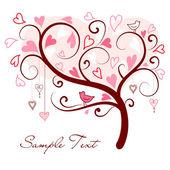 Fotografia amore albero di cuori