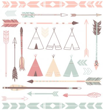 Teepee Tents and arrows
