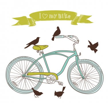 Bicycle and birds