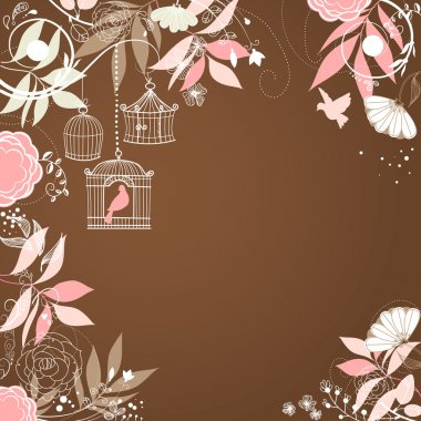 Floral summer background.
