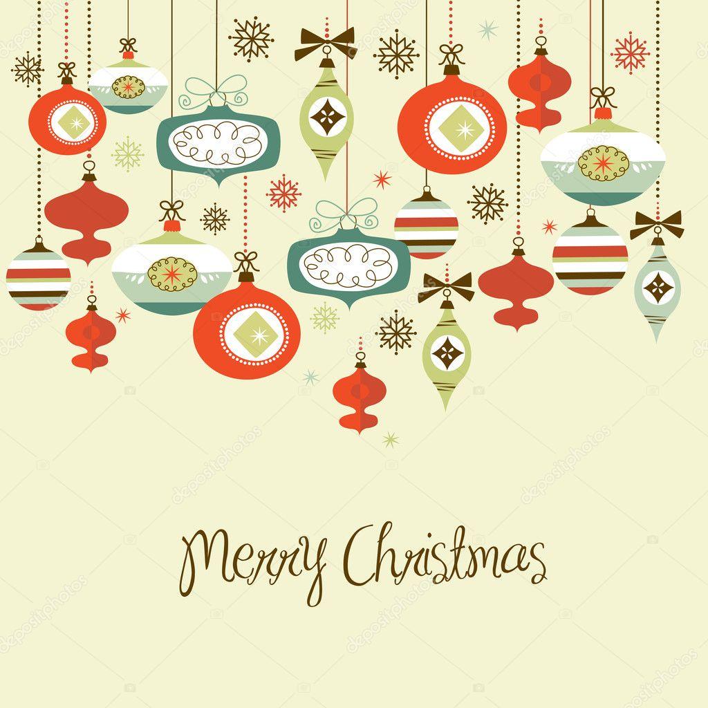 Retro Christmas Decorations. U2014 Vector By AlisaFoytik