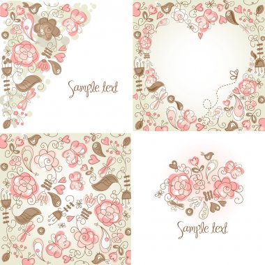 Folk floral backgrounds