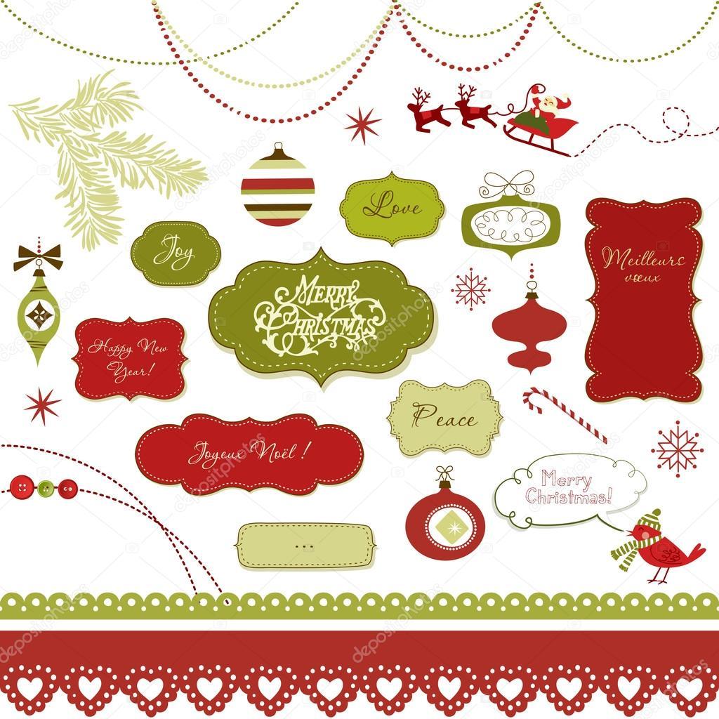 Weihnachten-Scrapbook-Elemente — Stockvektor © AlisaFoytik #34802749
