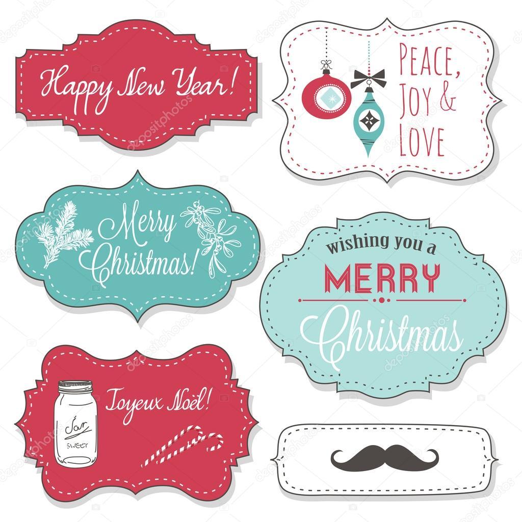 Vintage Bilder Weihnachten.Vintage Weihnachten Bilder Stockvektor Alisafoytik 34802763